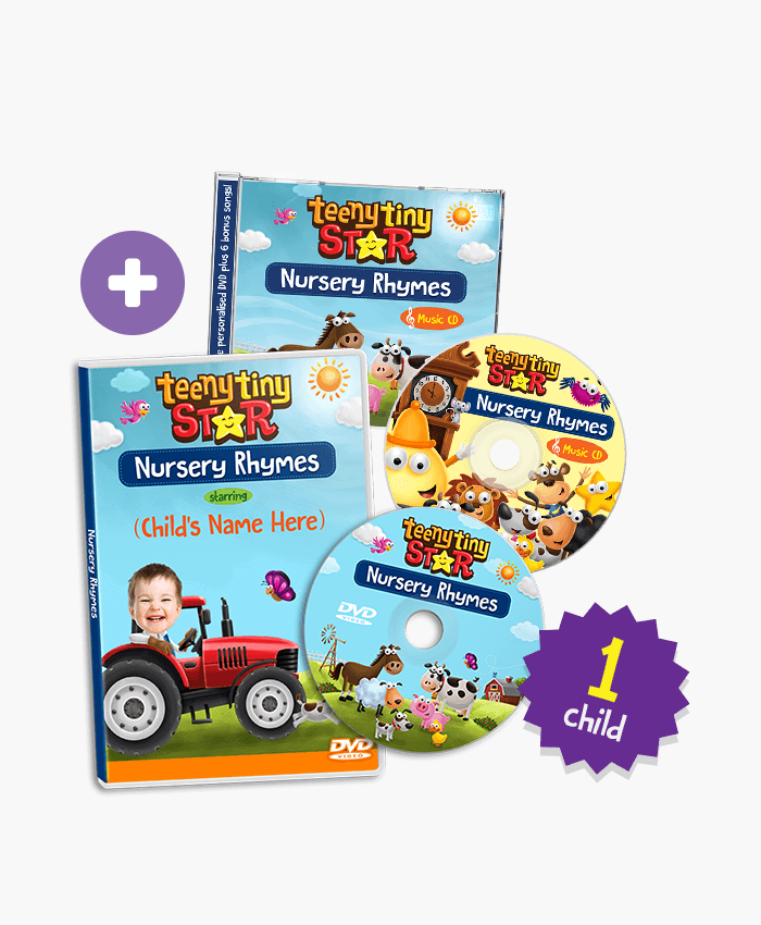 Nursery Rhymes Personalized Dvd For 1