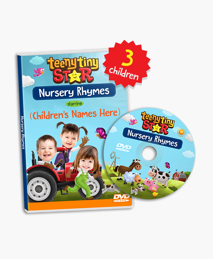 Nursery Rhymes Personalized Dvd For 3